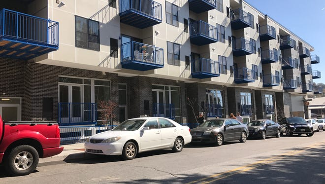 """These 32 apartment units Public Interest Projects built behind the Aloft Hotel in downtown Asheville do qualify as """"workforce housing."""""""