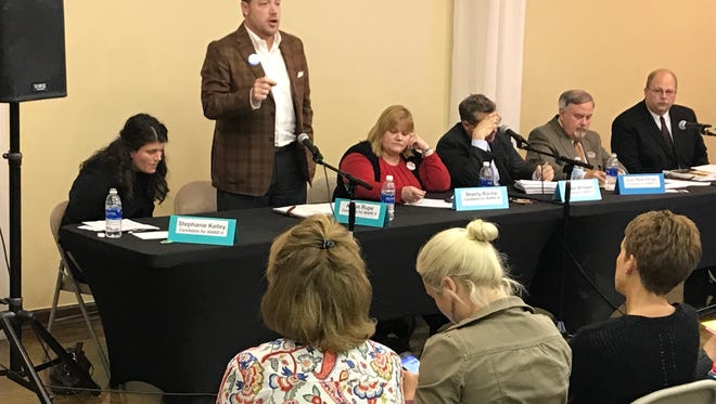Simpsonville City Council candidates answer questions at forum.