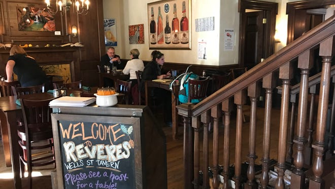 Revere's offers seasonal specials that change often, as well as a year-round menu with burgers, sandwiches, entrees and more.