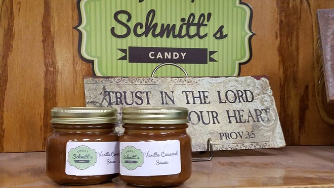 Sweet Schmitt's Candy specializes in caramel sauce, chocolate dipped handmade marshmallows, and caramels.