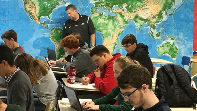 Northwest High School students work on their laptops. TN Ready and EOC tests are now administered on laptops across the state.