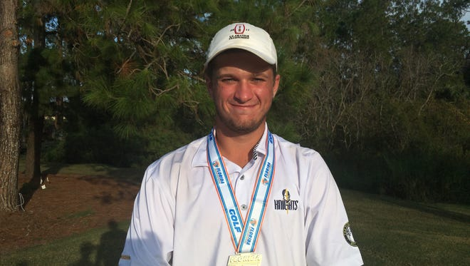 The Pine School's Garrett Barber won the Class 1A state championship by six strokes on Nov. 8.