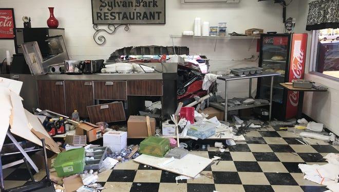 A car crashed into the Sylvan Park Restaurant in Murfreesboro on Thursday.