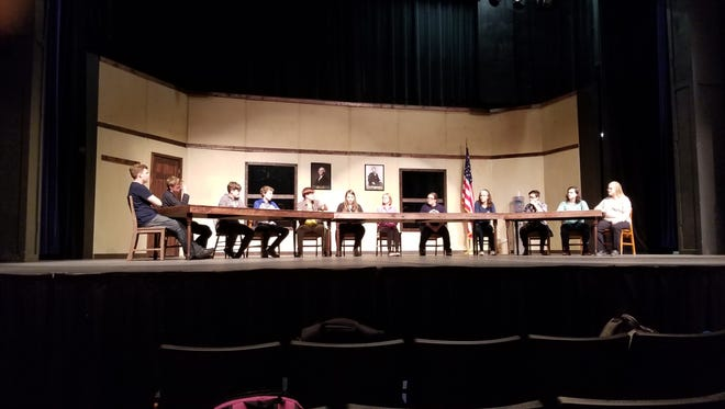 """Opening night for Appleton West High School's production of '12 Angry Jurors"""" is Thursday."""