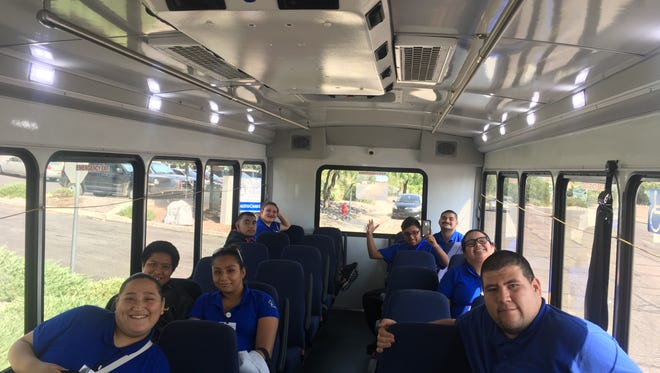 Project Search interns ready to ride with the South Central Regional Transit District.