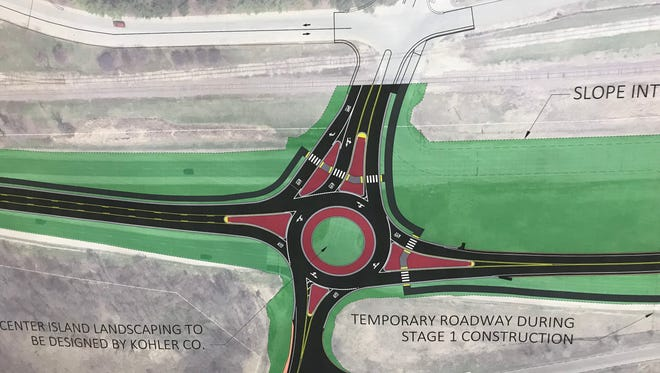 A roundabout is slated for installation at the intersection of Sheboygan County PP and County A in Kohler in 2018.