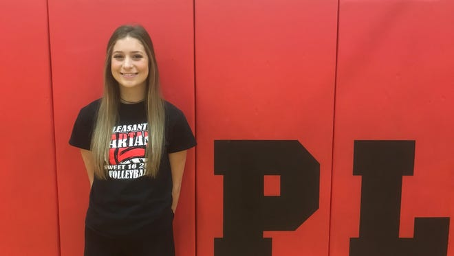 Pleasant junior Laina Sansotta was named October's Fahey Bank Athlete of the Month for her play at the net in leading the volleyball team to a Division III district championship.