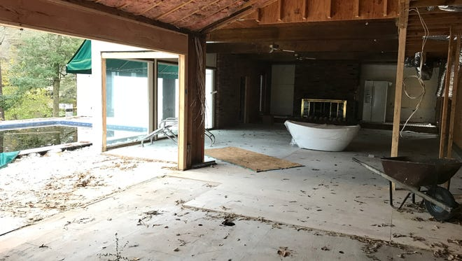 "The inside of J.D. and Jenny Schroen's home in Salisbury which is currently undergoing renovations. The couple filmed their homebuying process during the summer for HGTV's ""House Hunters."" Nov. 15, 2017."