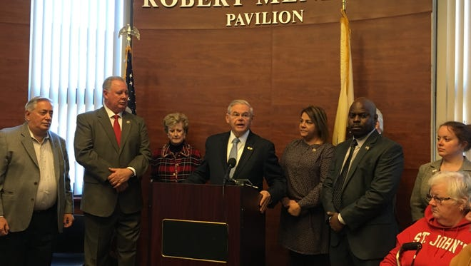 U.S. Sen. Bob Menendez on Friday, a day after a mistrial was declared in the public corruption case against him.