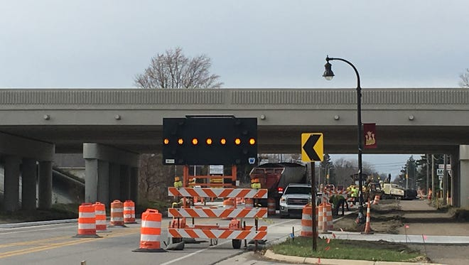 Crews have been reconstructing and widening Lapeer from Alger Road to just east of Interstate 94 since Sept. 11. It had been scheduled to be complete by Nov. 17 but is behind schedule.