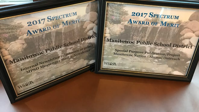 Manitowoc Public School District was honored with two 2017 Spectrum Awards from the Wisconsin School Public Relations Association.