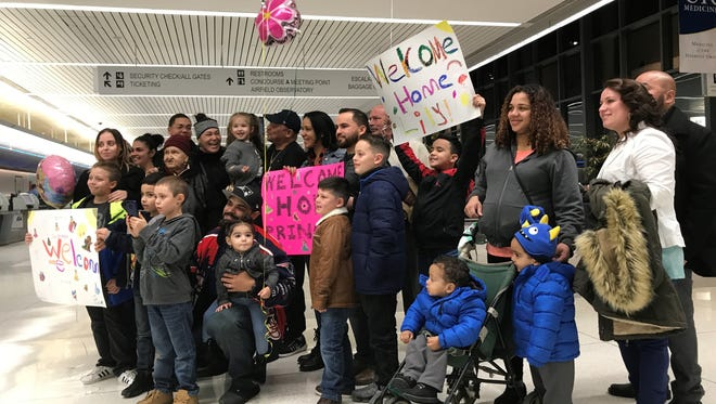 "Well-wishers gather at the Greater Rochester International Airport on Sunday, Nov. 19, 2017, to welcome Laylani ""Lily"" Ortiz home. Lily was reported missing on Wednesday afternoon."