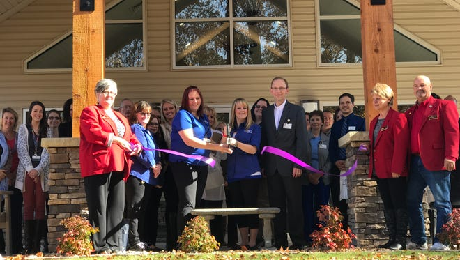 Mountain Home Chamber of Commerce ambassadors recently cut the ribbon for the Heinz-Willett Center at Good Samaritan Village in Mountain Home.
