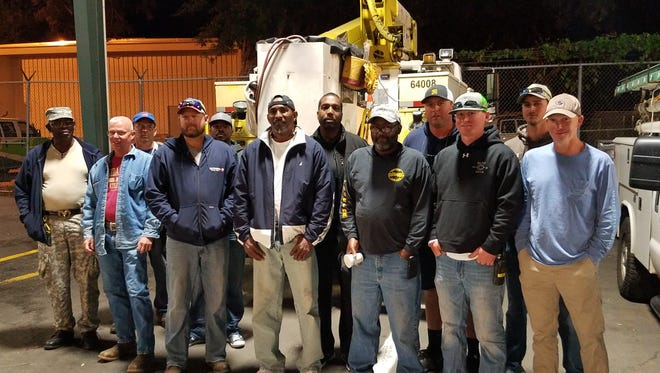 The City of Tallahassee electric crew, which is headed for the Virgin Islands to help restore power to the Island of St. Croix, prepared to head out on Tuesday morning.