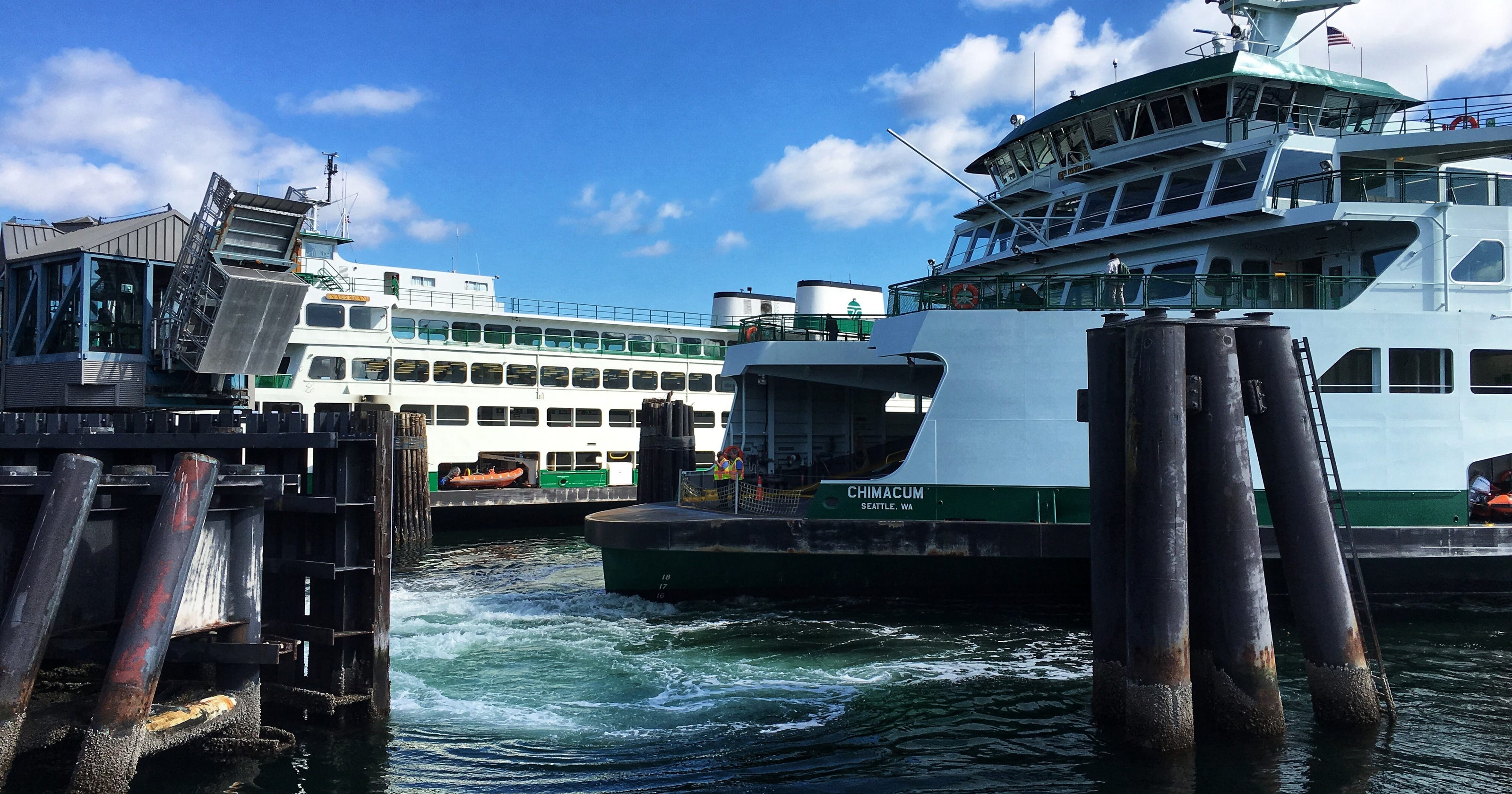 Ferries' effort to throttle back to save fuel delays Bremerton run