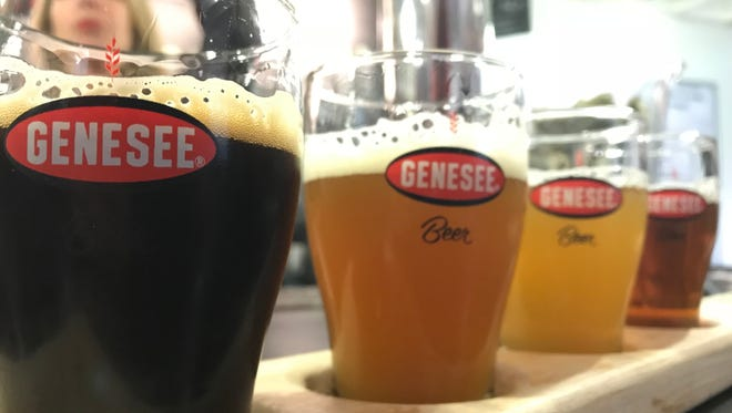 A flight of Genesee Brew House beers during a recent visit.