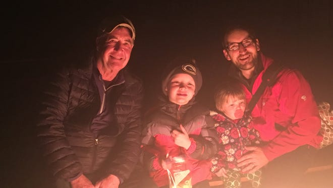 Tom Kapellen, pictured with son Matt and kids Thomas and Lucy