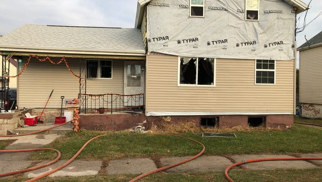 No one was hurt after a fire Thursday morning at this house in the 1800 block of 13th Street in Two Rivers.