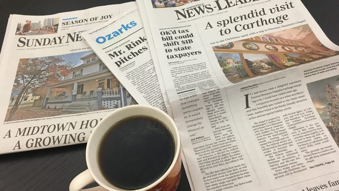 Tuesday, Dec. 5, 2017 is #LoveMyNewspaper Day. Celebrate with the News-Leader!
