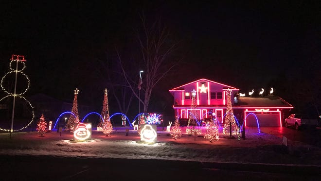 Konzal's Crazy Christmas Light Show offers over 85,000 lights and interactive displays. The show is free but collects donations for Make-A-Wish Wisconsin.