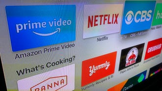 Amazon Prime Video, as seen on the Apple TV screen