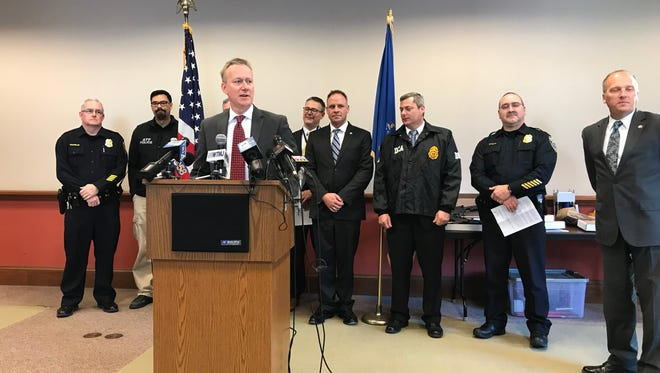 U.S. Attorney Gregory Haanstad on Wednesday announces 19 arrests in a sprawling drug trafficking case.