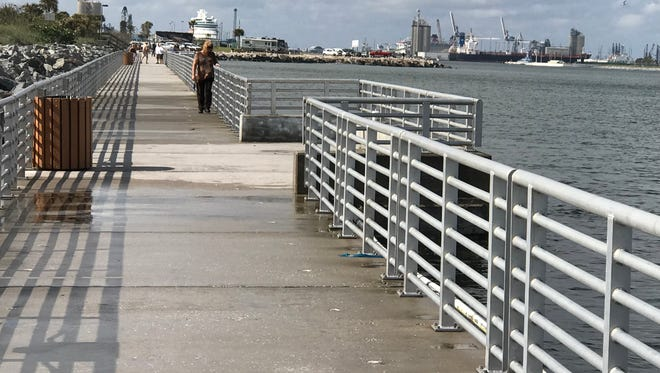 The Malcolm McLouth fishing pier reopened Friday after extensive repairs following Hurricane Irma.