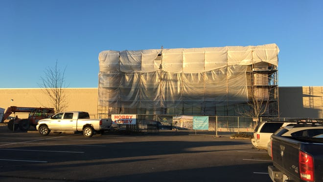 Construction at Willamette Town Center, formerly Lancaster Mall, in Salem, Oregon, on Dec. 7, 2017.