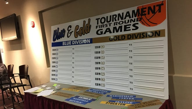 The first round of Blue & Gold Tournament games is being announced on Dec. 13, 2017.