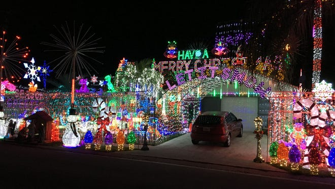 The lights were dazzling for those seeing this view of the front.