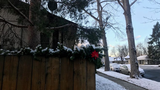Fort Collins woke up to a dusting of snow Thursday morning, breaking a 36-day streak without measurable flakes.