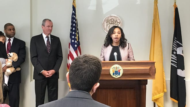 Former Passaic County Freeholder Tahesha Way was introduced on Dec. 18, 2017, as Gov.-elect Phil Murphy's choice for secretary of state.