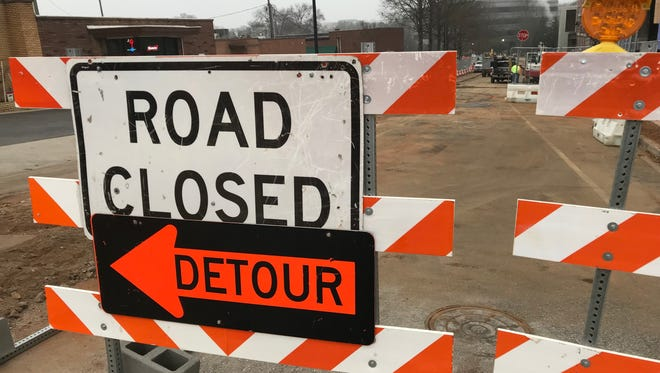 Falls Street will reopen Dec. 23 after nearly three months. The street was closed due to construction on the Camperdown project.