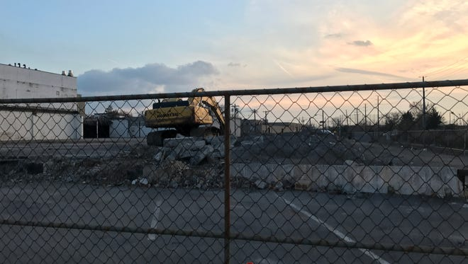 Demolition work has begun on the site of what will be a water park in Palisades Park.