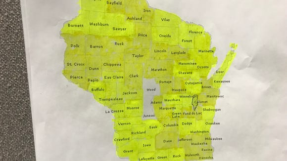 Two counties to go until 2017 Runnin' and Ridin' in Wisco Project completion.