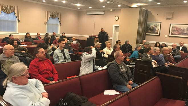 About 60 residents attended the special year-end council meeting in Parsippany on Dec. 27, 2018.