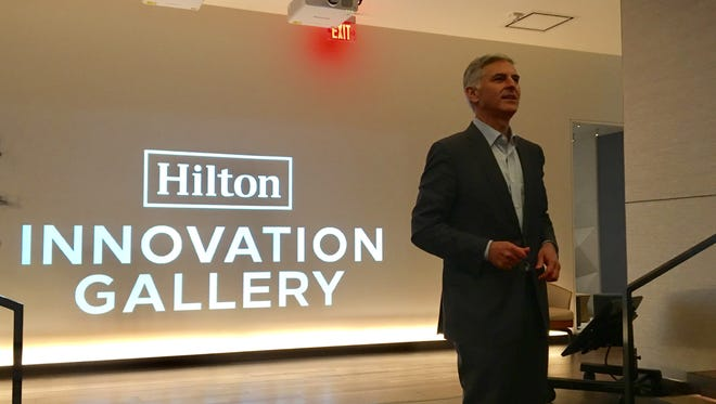 Hilton CEO Christopher Nassetta introduces the company's new Innovation Gallery.