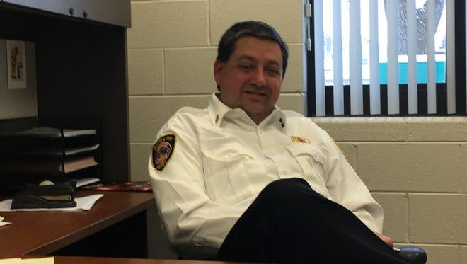 New South Lyon Fire Chief Robert Vogel.