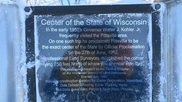 Pittsville is the exact center of Wisconsin.
