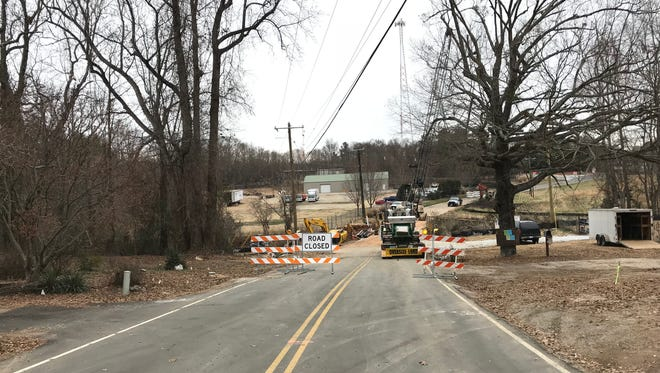 A bridge replacement project is forcing detours around Edwards Road in Greenville County