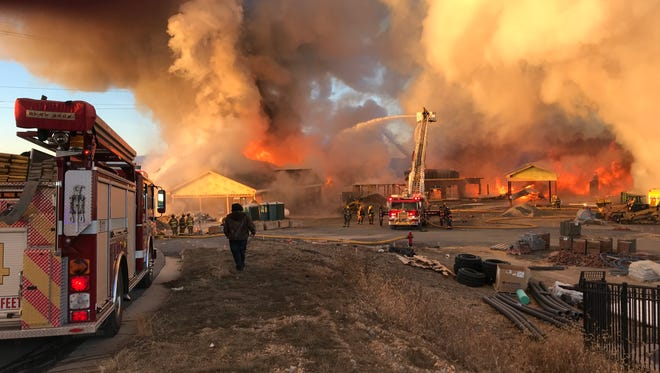 A construction site fire Sunday in Fishersville.