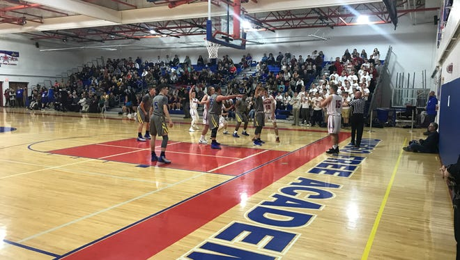 Action from Owego's win Monday night over Maine-Endwell.