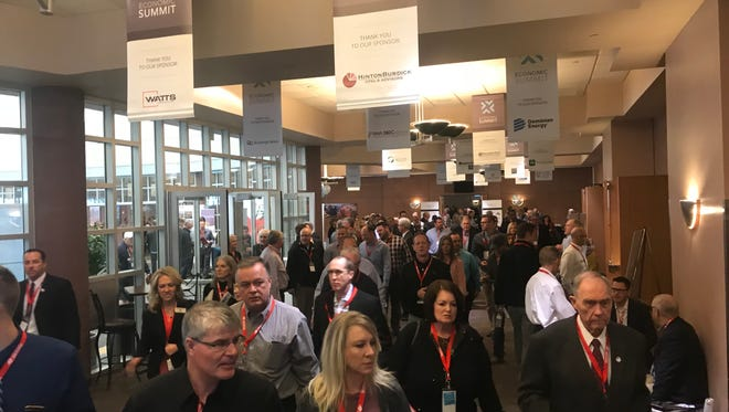 A crowd of Southern Utah business people filled the Dixie Center in St. George on Thursday for the annual Washington County Economic Summit.