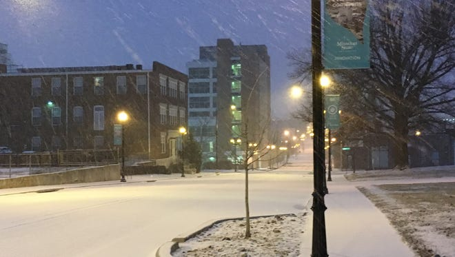 Meteorologists say about an inch of snow was expected to fall Sunday in Springfield.