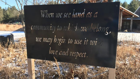 """When we see land as a community to which we belong,"