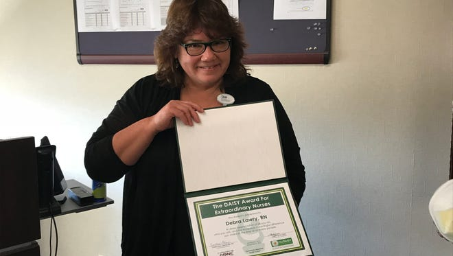 Debra Lawry is the most recent DAISY Award winner at Community Memorial Health Systems.
