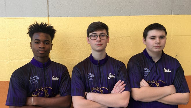 Smyrna bowlers, from left, Xavier Powell-Short, Josh Meeke and Blake Evans all reached the TSSAA State Bowling Tournament individual finals.