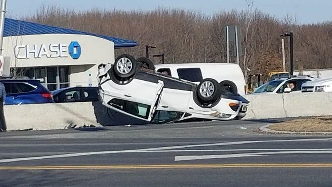 Police are on the scene of a car crash that closed Route 35 in Hazlet