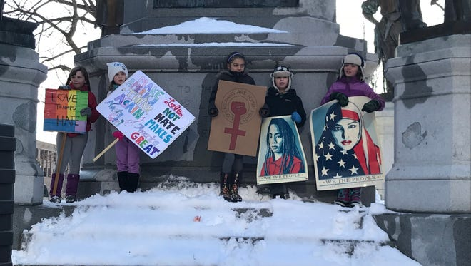 Scenes from the Woman's Rally 2018 in Washington Square Park on Jan. 20, 2018