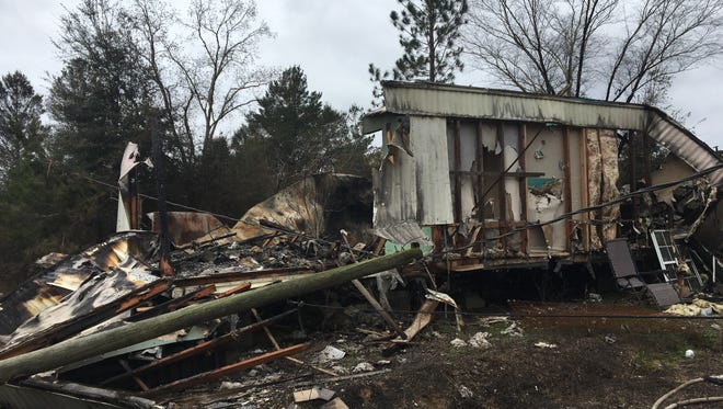 A thoroughbred fire in East Milton resulted in the destruction of two buildings, two outbuildings and the damage of several more outbuildings when it escaped a yard debris burn on Saturday, Jan. 20, 2018.